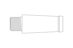 RUTHENIUM - Bock ready-made size 6 nib section