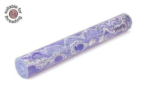 Blue & White - ebonite rod. 60 x 20mm