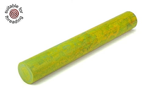 Green & Yellow - ebonite rod. 150 x 20mm