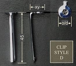 Pen clip style D - gold 14x45, gasket o/d 10.3, i/d 4.1