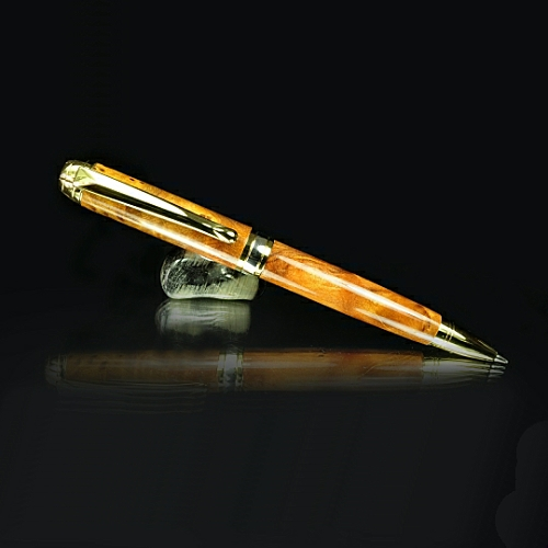 Mistral pencil kit with rhodium fittings and brushed gold accents - 0.5mm leads