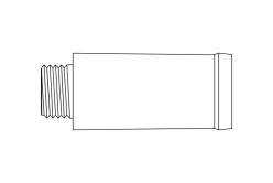 Bock #6 fountain pen section - satin ruthenium plate