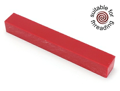 Semplicita SHDC Cadmium Dark Red acrylic pen blank - 150mm