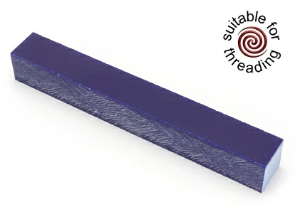 Semplicita SHDC Midnight Blue acrylic pen blank - 150mm