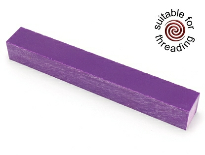 Semplicita SHDC Pure Purple acrylic pen blank - 200mm