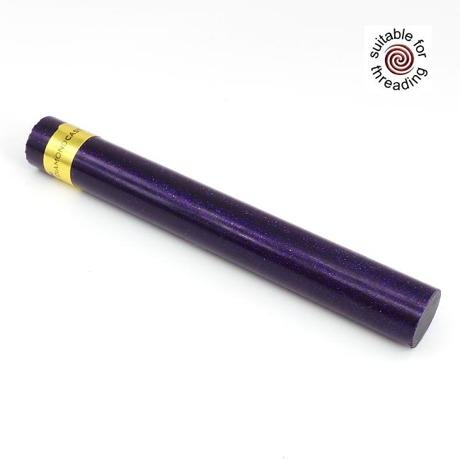 Amethyst - DiamondCast Radiance series pen blank. 235mm