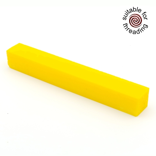 Semplicita SHDC Canary Yellow acrylic pen blank - 200mm
