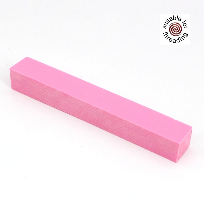 Semplicita SHDC Carnation Pink acrylic pen blank - 200mm