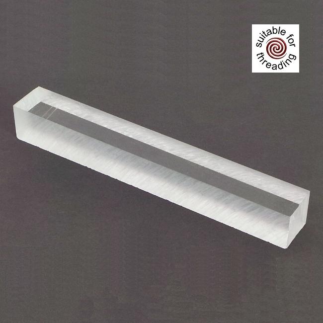 Semplicita SHDC Crystal Clear acrylic pen blank - 150mm