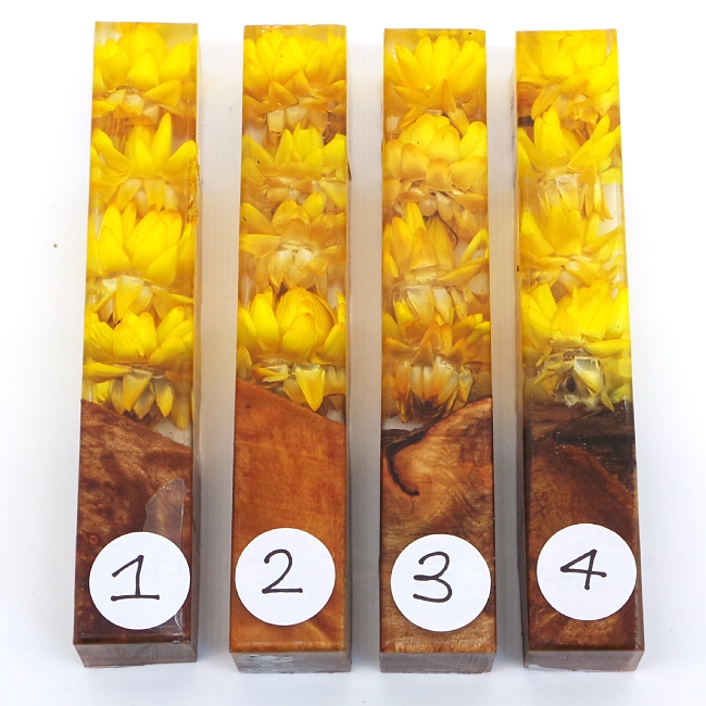 Golden Sunset Flower Girl acrylic pen blank