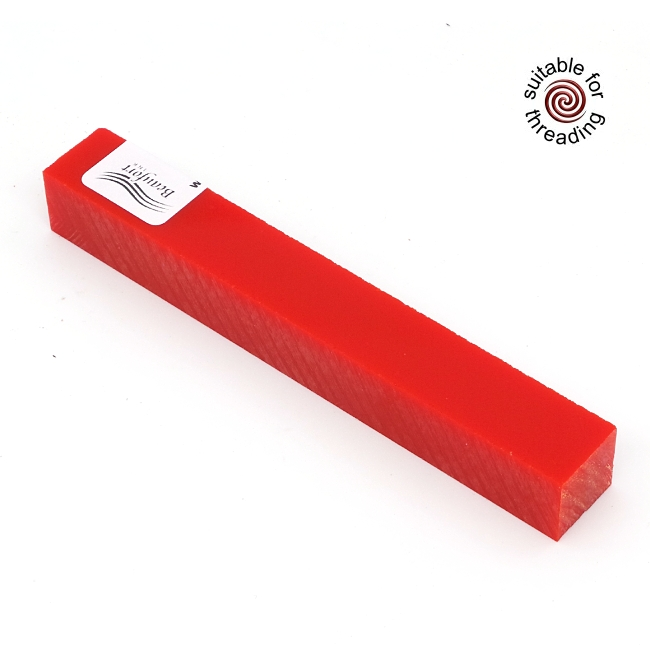 Semplicita SHDC Simply Red acrylic pen blank - 200mm
