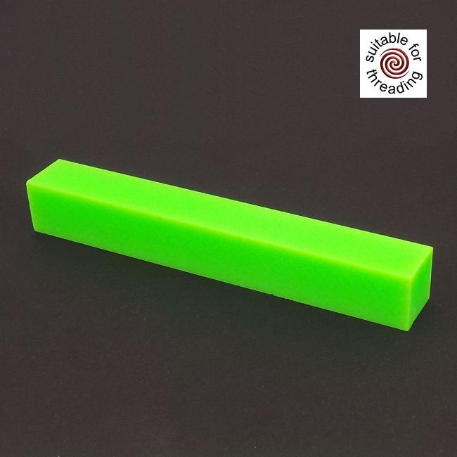 Semplicita SHDC Neon Green acrylic pen blank - 200mm