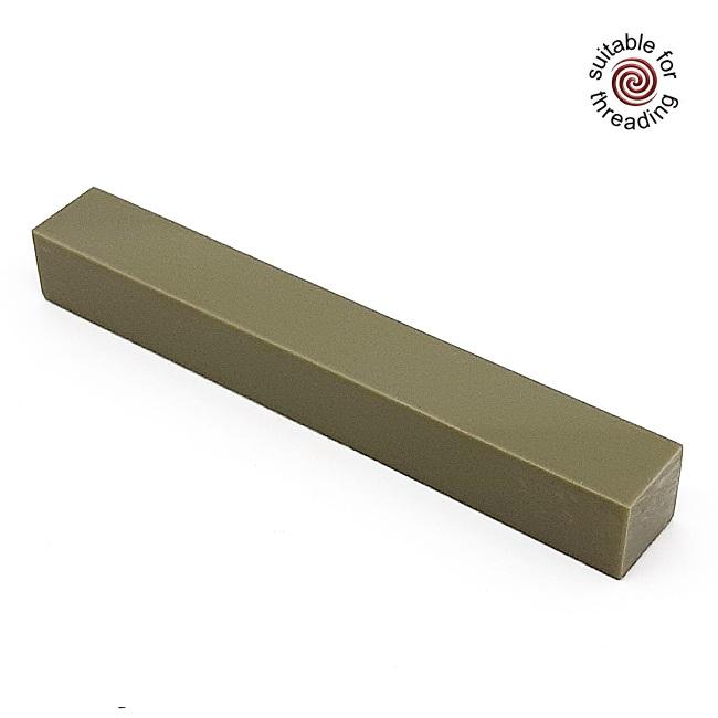 Semplicita SHDC Olive Green acrylic pen blank - 200mm