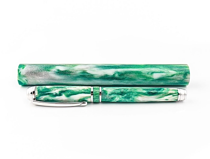 Emerald Isle - Silver series pen blank. 150mm