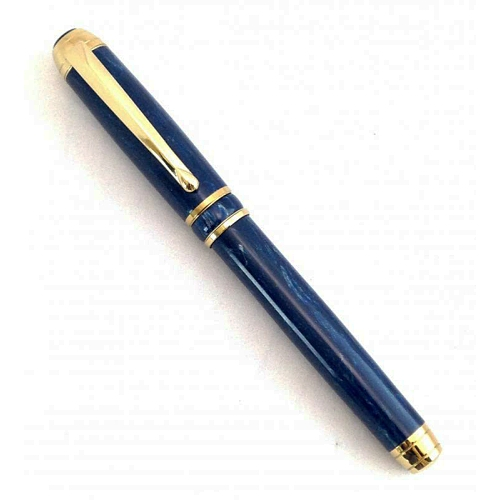 Mistral fountain pen kit with titanium gold fittings and brushed gold accents