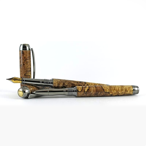 Mistral rollerball pen kit with rhodium fittings and ti-gold accents