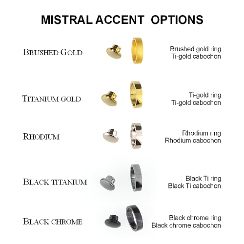 Mistral rollerball pen kit with titanium gold fittings and rhodium accents