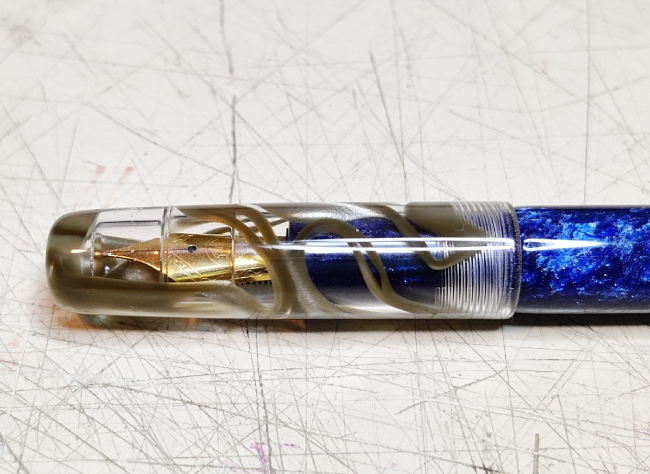 Semplicita Nastro Gold Ribbon acrylic pen blank - 150mm