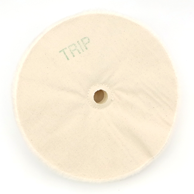 Beall 8 inch buffing wheel with centre hole (no hardware) for tripoli compound