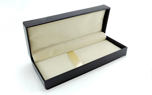 Black leatherette pen box