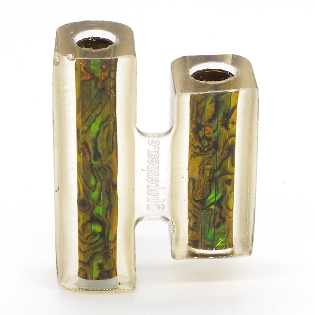 Green Gold Blankwerks paua abalone pen blank - Mistral/Leveche FP/RB