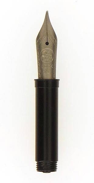 Bock fountain pen nib with Bock housing #5 solid titanium - medium