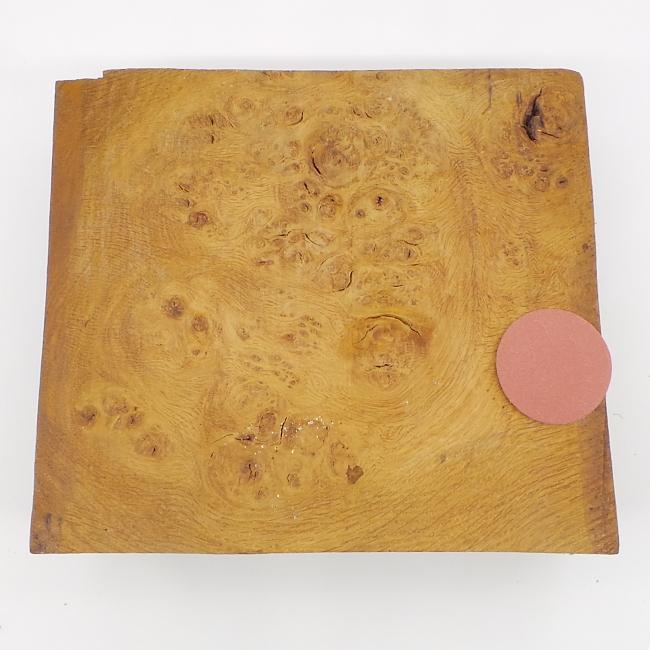 Burr oak square bowl blank - 240 x 215 x 85mm