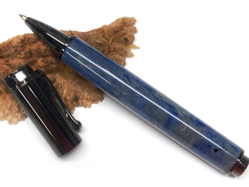 Cobalt Steel - Divine Island alumilite pen blank