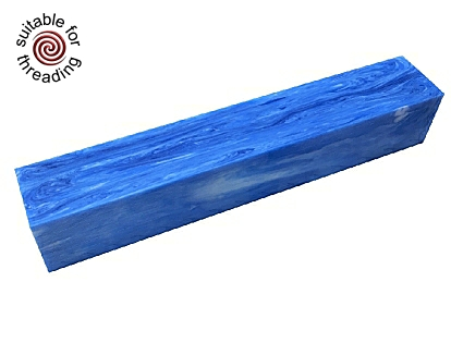 Cold as Ice - Divine Island alumilite pen blank