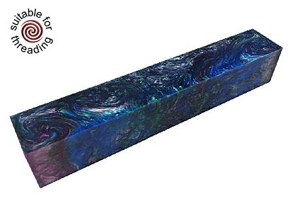 Peacock - Divine Island alumilite pen blank