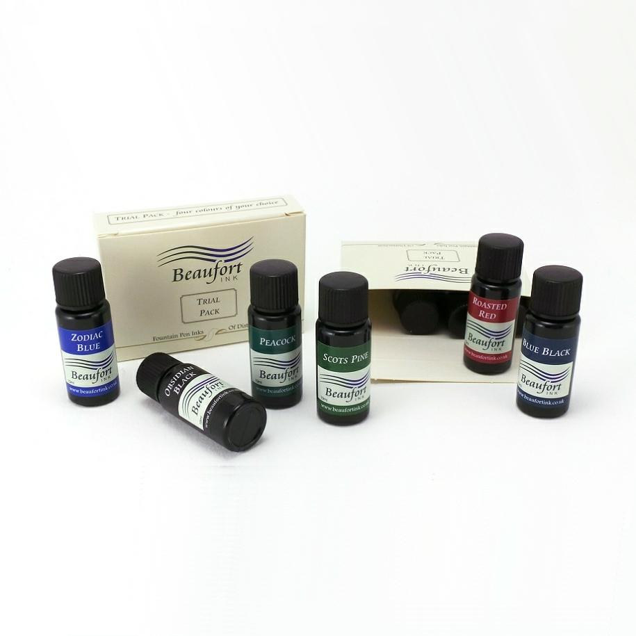 Fountain pen ink - 4 x 10ml trial pack
