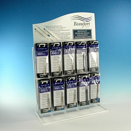 Free refill display stand stocked with 60 x retail twin packs