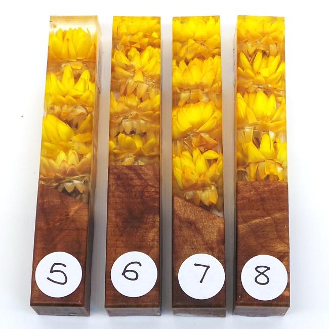 Golden Sunset Flower Girl acrylic pen blank No7
