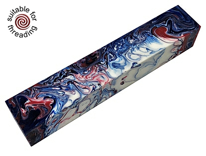 Independence Day - Divine Island alumilite pen blank