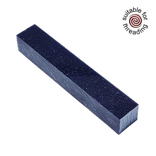 Kirinite Blue Sparkle Stardust Glitter pen blank