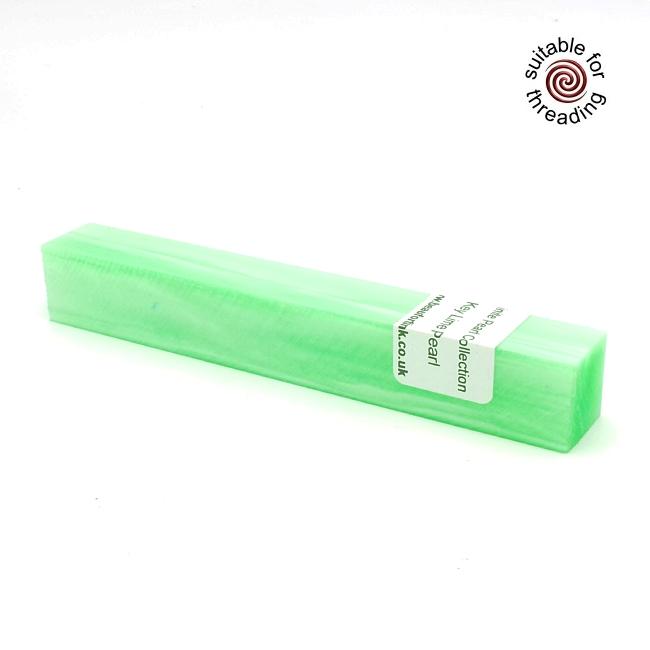 Kirinite Key Lime Pearl pen blank