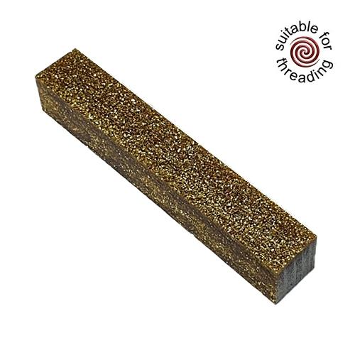 Kirinite Gold Stardust Glitter pen blank