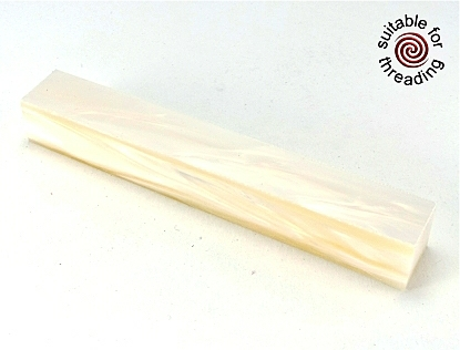 Kirinite Ivory Mother of Pearl pen blank