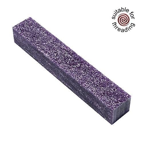 Kirinite Purple Stardust Glitter pen blank