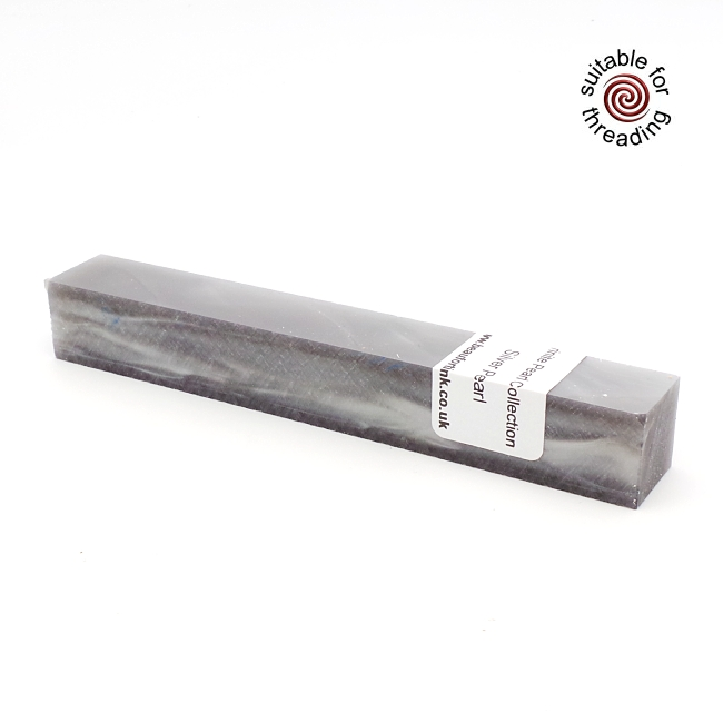 Kirinite Silver Pearl pen blank
