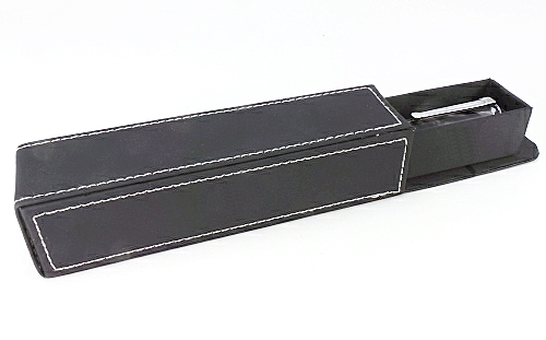 Leatherette drawer type pen box