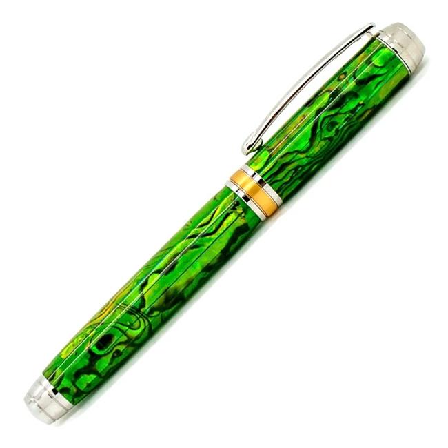 Lime Green Blankwerks paua abalone pen blank - Mistral/Leveche FP/RB