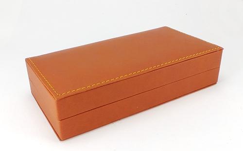 Luxury tan leatherette pen box