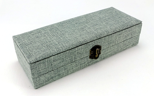 Padded fabric covered double pen box