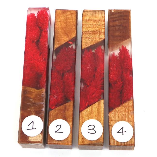 Scarlet Ridge Flower Girl acrylic pen blank No4