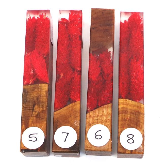 Scarlet Ridge Flower Girl acrylic pen blank No5