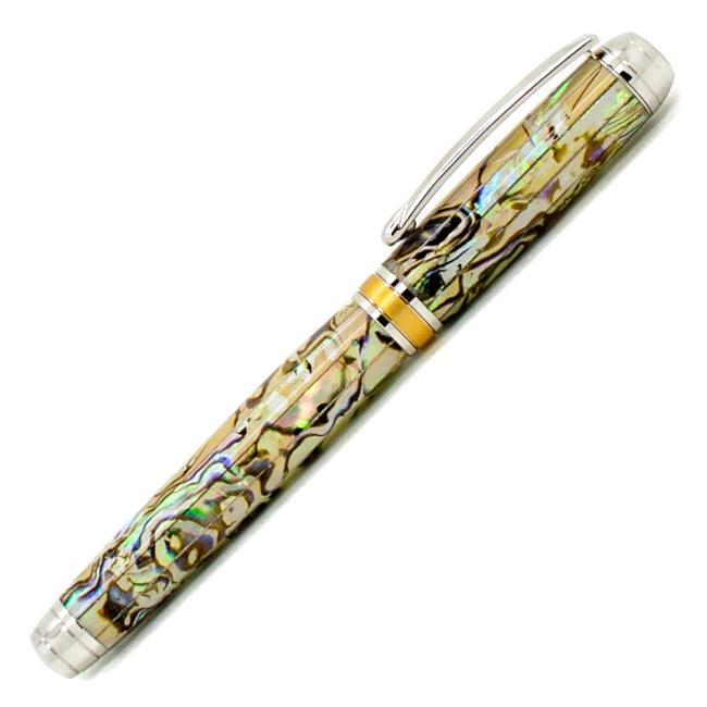 White Blankwerks paua abalone pen blank - Mistral/Leveche FP/RB