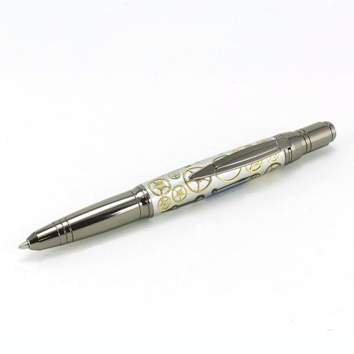 Zephyr ballpoint pen kit with gunmetal fittings
